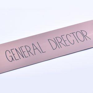 General Director tábla